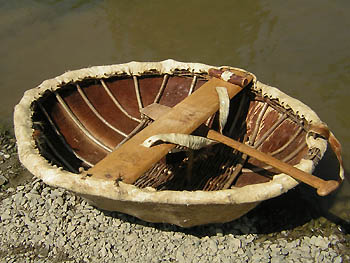 Leather Coracle. photo from boatsdepot.com