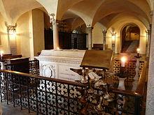 St. Columbanus' Sarcophagus in the Crypt of Bobbio