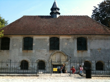 Merovingian Crypt at Jouarre where Abbess Theodechilde and her brother Bishop Agilbert are buried