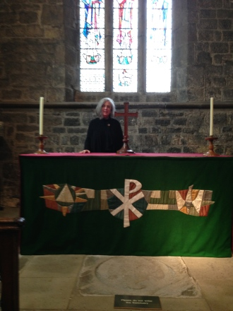 What an incredible experience to get to stand behind the Communion Table at the Jarrow Church where Bede worshipped.