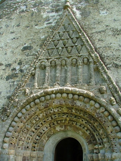 Romanesque arch over doorway of Clonfert where Brendan was buried