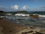 Coastline of Iona where Columba and his 12 companions landed
