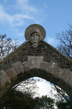 St. Aebba's Head at Northfield Church, St. Abb's Head