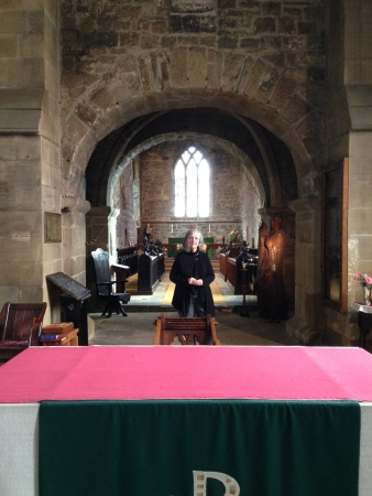 Standing in the Chancel Area, St. Peter and Paul's Church, Jarrow, Oct. 2014