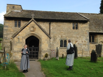 St. HIlda's Church, Ellerburn with two of the Sisters of the Holy Paraclete from St. Hilda's Priory/St. Oswald's Pastoral Centre. St. Hilda's Pilgrimage, Sept. 2014
