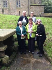 St. Hilda's Pilgrimage group to St. Hilda's Well, Hinderwell, Sept. 2014