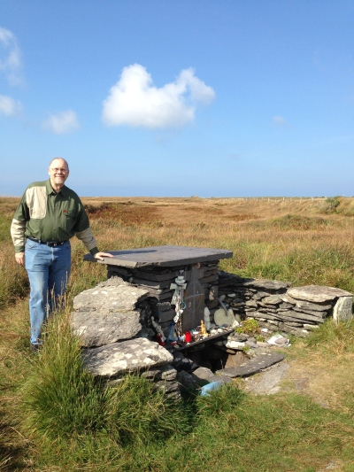 St. Brendan's Well on Valentia Island, near Skellig Michael. It is said that St. Brendan baptized two people there.