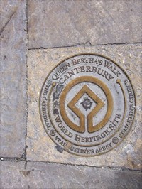 Queen Bertha's Walk Plaque. About a two hour walk.