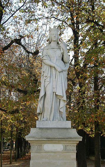 St. Bathilde statue at Luxembourg Garden
