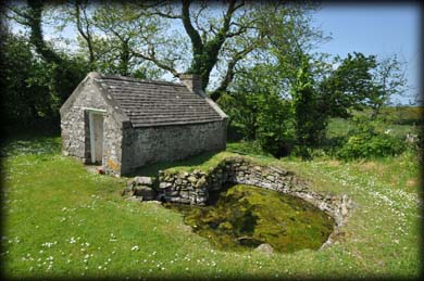 St Ita's well Tobar na Molt where St. Brendan was baptized by Erc.