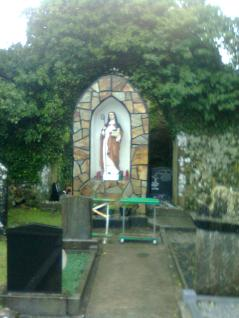 St. Ita's 20th c. shrine considered to be over the place of her burial