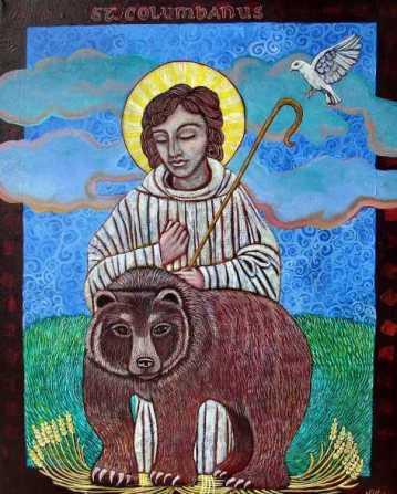 St. Columbanus by Susanne Iles. http://www.susanneiles.com/columbanus.html