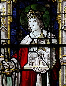Stained Glass depiction of King Edwin of Northumbria. St. Mary's Sledmere, Yorkshire. from wikipedia