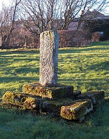 Cross shaft in Graveyard at St. Bee's Priory