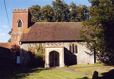 St. Frideswide's Church, Frilsham likely built over the pigsty/chapel where she hid