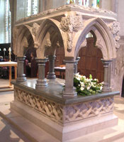 Frideswide's Shrine at Christ Church Cathedral. photo from Ashmolean.org