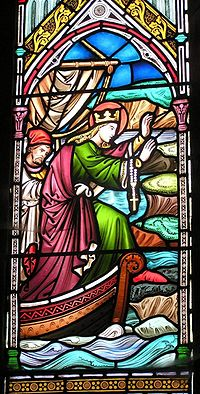 Stained Glass of St. Bega in St. Bee's Priory