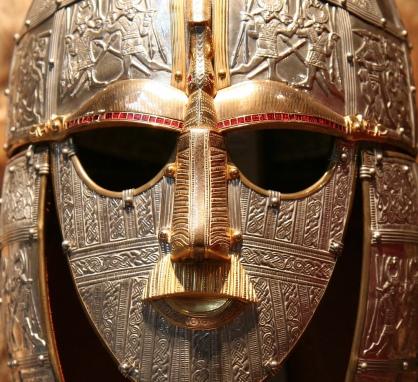 Sutton Hoo helmet-replica. Original in British Museum. Wikipedia